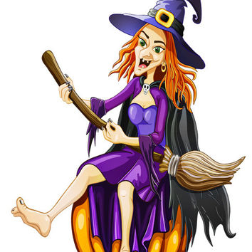 Witch Image, Hillbilly Witch Image, Funny Witch Image,Large Witch Hillbilly,Transparent Cutout, Wall Décor, Teen Room,Teen Décor, Home Décor