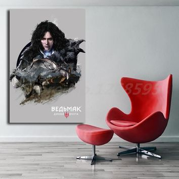 The Witcher 3 Wild Hunt Yennefer Raven Canvas Painting Print Living Room Home Decor Modern Wall Art Oil Painting Poster Artwork