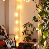 White Cord Globe String Lights- White One