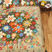Treasure Grove Duvet Cover Set in Full/Queen | Mod Retro Vintage Decor Accessories | ModCloth.com