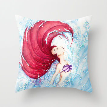 Ariel Throw Pillow by Susaleena