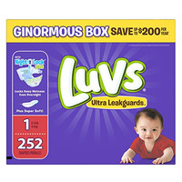 Luvs Ultra Leakguards Diapers, Size 1, 252 Count
