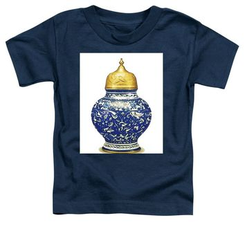 An Ottoman Iznik Style Floral Design Pottery Polychrome, By Adam Asar, No 9a - Toddler T-Shirt