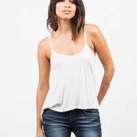 Pom Pom Strapped Cami - Off White