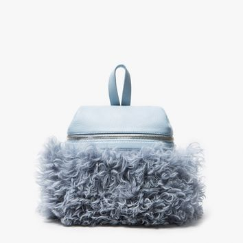 Kara / Sky Blue Shearling Backpack