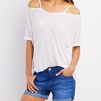 SHORT SLEEVE CUT-OUT TEE