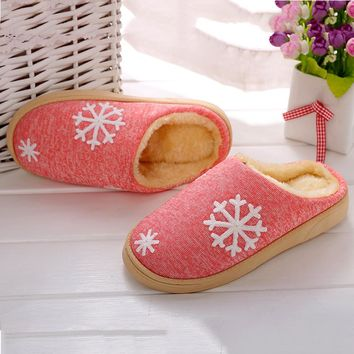 Winter Womens Indoor Home Shoes Faux Fur Warm Slippers