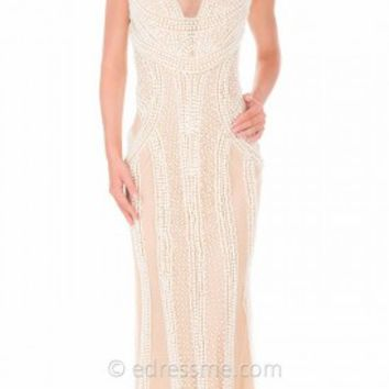 Art Deco All Over Pearl Prom Gown by Atria