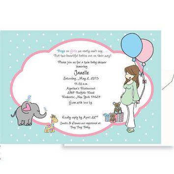 Personalized Baby Shower - Twins on the way!