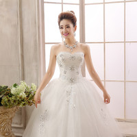 Meidi boutique wedding formal dress bandage lacing hy paillette lace laciness wedding princess big yards  HS7