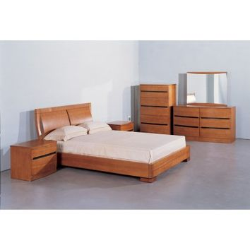 Beverly Hills Furniture Maya Platform Bed - Teak - Beds at Hayneedle