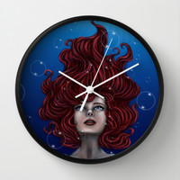 Tears of a Mermaid Wall Clock by Kimberly Castello