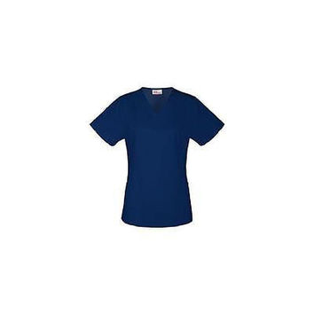 Vital Threads Women's Stretch Core V-Neck Scrub Top, Medium, Navy, 77950