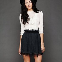 Free People Polka Dot Mesh Skirt
