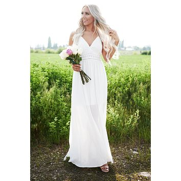 Happily Ever After Maxi Dress (White)