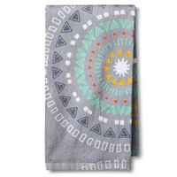 Gray Geometric Kitchen Towel - Room Essentials™