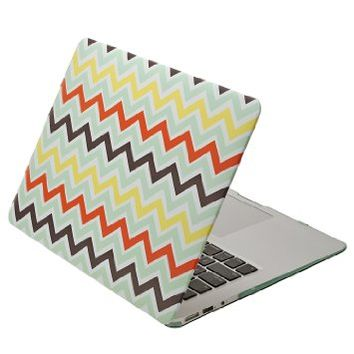 Aduro Macbook SoftTouch Cover with Matching Silicone Keyboard Cover (Retail Packaging) (MacBook Air 13, Chevron)