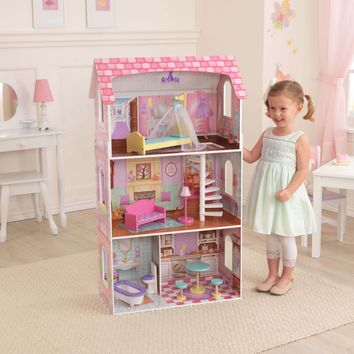 ONLINE ONLY!!!!!KidKraft Penelope Wooden Dollhouse with 9 Pieces of Furniture