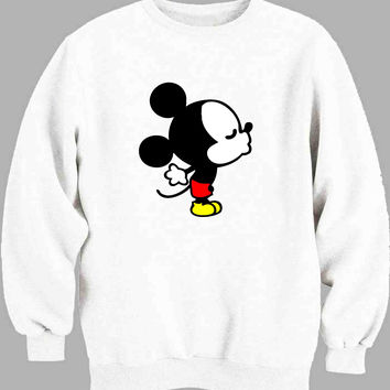 Mickey and Minnie kissing Disney A Sweater for Mens Sweater and Womens Sweater *