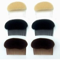 Manufacturer Directly Sells Former Liu Hai Cushion Hair To insert Comb Hair The head dish hair Fleeciness modelling 1PCS T0016
