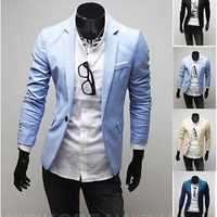 Jeansian Mens Jackets Blazer Coats Shirts Tops Outerwear 4 Colors XS S M L 8960