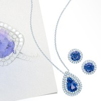 Tiffany & Co. - Tiffany Soleste earrings in platinum with tanzanites and diamonds.