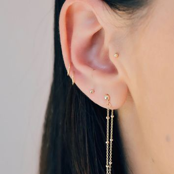 SPECKLED EAR CHAIN | GOLD