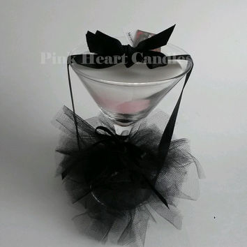 Gothic Inspired Martini Glass Candle One of a Kind