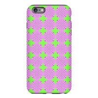 Mod pink green circle pat iPhone Plus 6 Tough Case