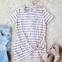 The Knot Tee in Taupe