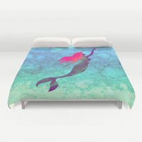 Disney's The Little Mermaid Watercolor Duvet Cover
