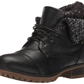 REFRESH WYNNE-01 Women's combat style lace up ankle bootie