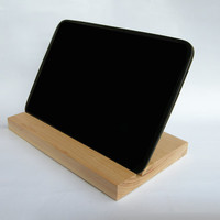 iPad stand. Wooden iPad Stand. Cherry iPad Dock. iPad wood stand. iPad Wood Docking Station.