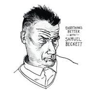 Samuel Beckett poster print Great Writers Literary Print