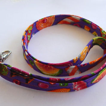 Candy Lanyard / Hard Candy / Candy Keychain / Cute Lanyards / Key Lanyard / Purple / ID Badge Holder / Back to School