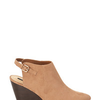 FOREVER 21 Cutout Faux Suede Wedges