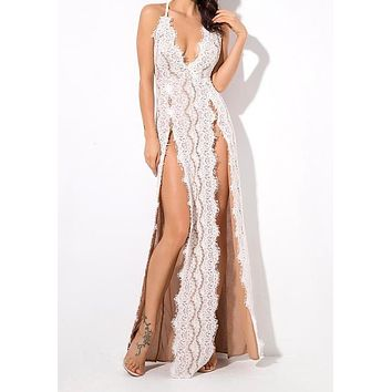 Vanderlily Luxury Detailed Maxi Gown