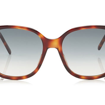 Jimmy Choo Dema Havana Rectangular with Stud Detail Sunglasses