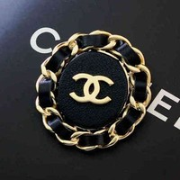 Chanel Women Fashion Plated Brooch