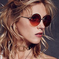 Free People Womens Stardust Rimless Sunglass