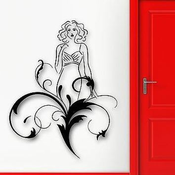 Wall Sticker Vinyl Decal Beautiful Woman Abstract Modern Home Decor Unique Gift (ig1775)