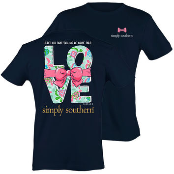 Simply Southern Preppy Done In Love Logo T-Shirt