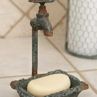 Vintage Metal Water Faucet Soap Dish-Back in Stock!