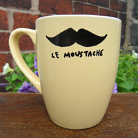 Mr Teacup's hand drawn moustache mug by MrTeacup on Etsy