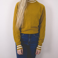 Vintage Mustard Yellow Sporty Sweater