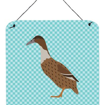 Dutch Hook Bill Duck Blue Check Wall or Door Hanging Prints BB8035DS66