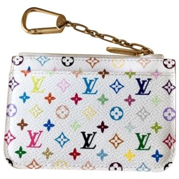 Louis Vuitton White Multicolor Key Cles Wallet