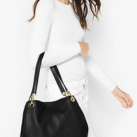 Raven Large Leather Shoulder Bag | Michael Kors
