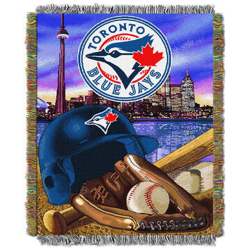 Toronto Blue Jays MLB Woven Tapestry Throw (Home Field Advantage) (48x60)
