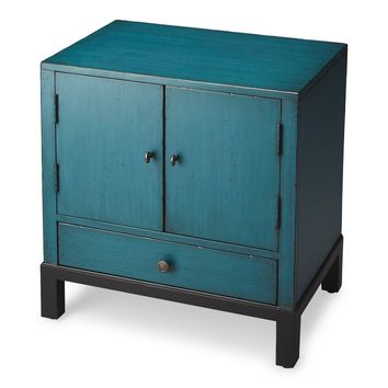 Butler Courtland Distressed Blue Accent Cabinet